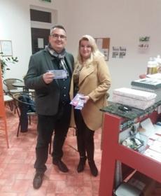 A Fiume Barátai Egyesület nevében Inkei Farkas Márton elnök úr, és Horváth Adrienn